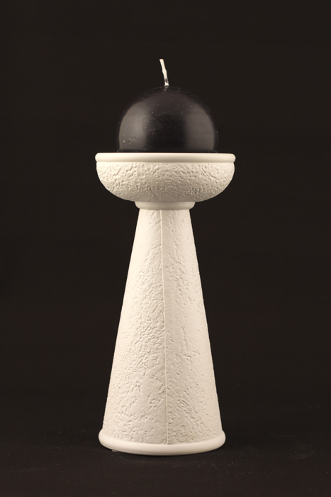 Sienna Candlestick Holder - Colour Off-White