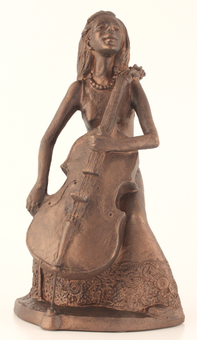 Kari With Her Cello - Colour Bronze