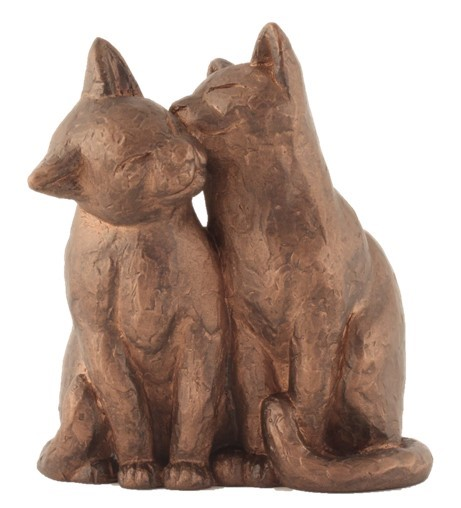 Two Sitting Cats - Colour Bronze