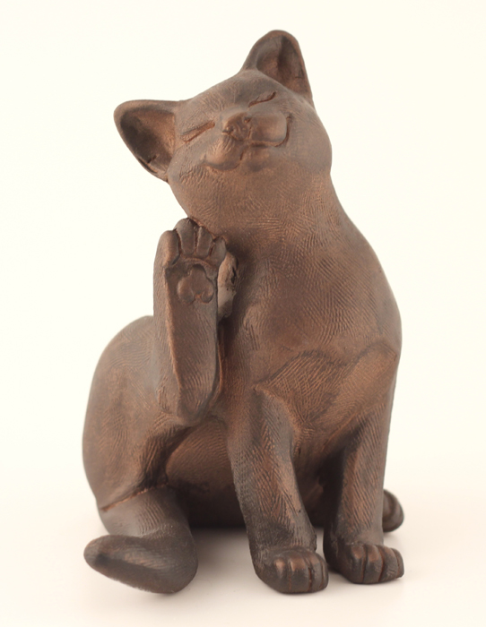 Cat Having A Scratch - Colour Bronze