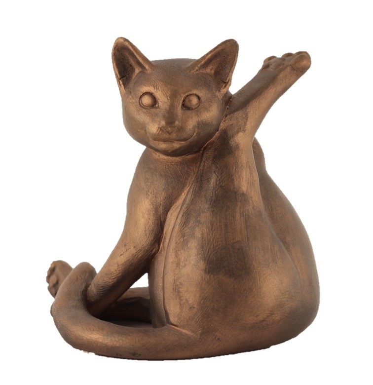 Cat Lifting Its Back Leg - Colour Bronze