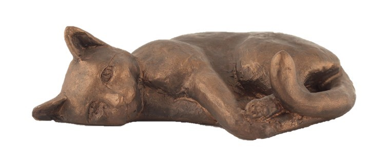 Cat Sleeping On Its Side - Colour Bronze