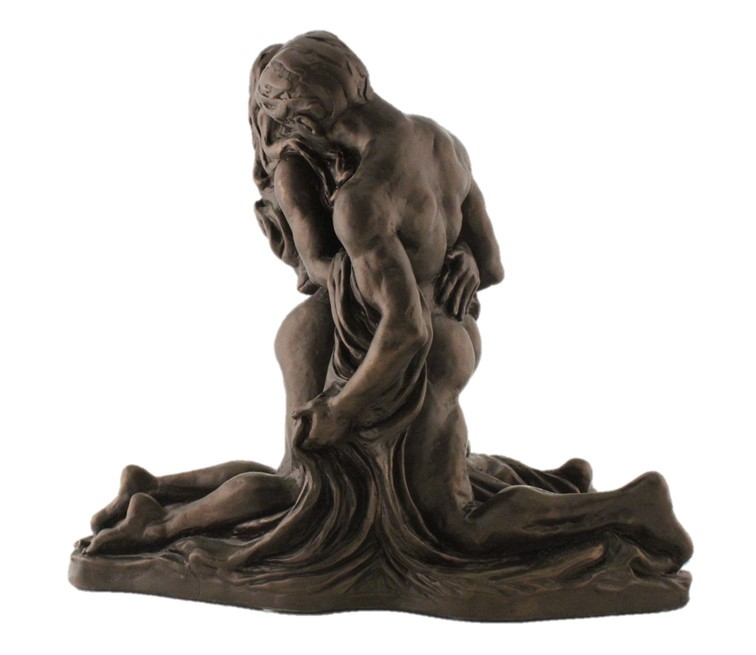 Couple Kneeling - Colour Bronze