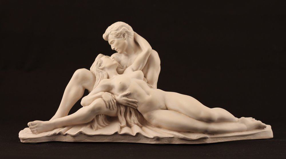 Couple Laying Down- Colour Light Marble