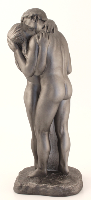 The Embrace, Couple Standing – Colour Steel