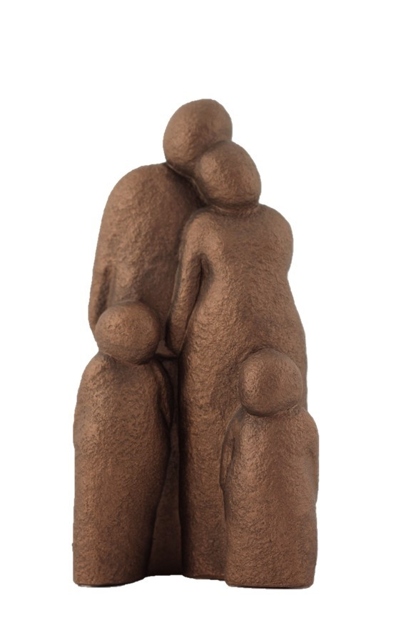Couple With 2 Children - Colour Bronze