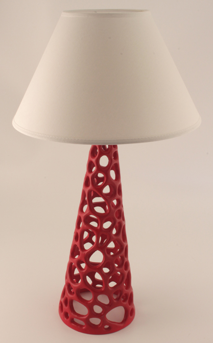 Coral Table Lamp - Colour Red